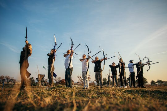 Archery is one of many activites available for group campers at Fairview Lake.