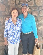 Winners of the 44th Annual Kachina Doll Member /Guest Tournament from left are Joyce McBride, Ruidoso, and her partner is Marian Barker, Lubbock,Texas.