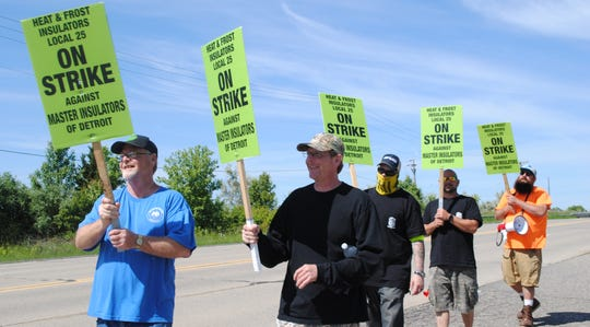 The mechanical insulators of Local 25 have been on strike since midnight of June 1 during contract negotiations.