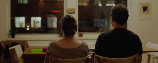 "Maria Dizzia (Alli) and Greg Keller (Jacob) in a scene from ""The Neighbors' Window."""