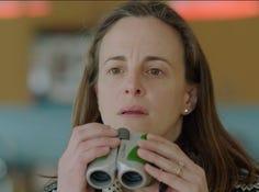 "Maria Dizzia (Alli) in a scene from ""The Neighbors' Window."""