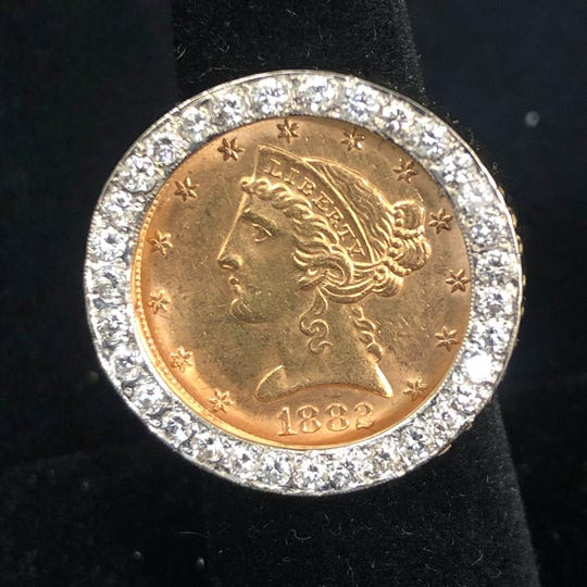 Apart from their numismatic value, gold coins are often used in fine jewelry.