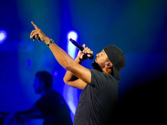 Luke Bryan performs at Ak-Chin Pavilion in Phoenix on June 13, 2019.