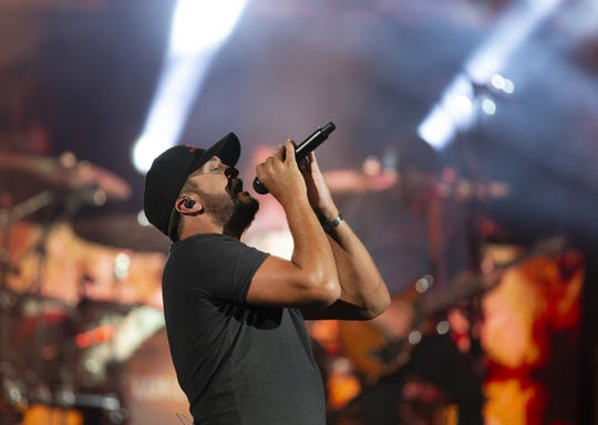 Luke Bryan performs at Ak-Chin Pavilion in Phoenix on June 13, 2019.