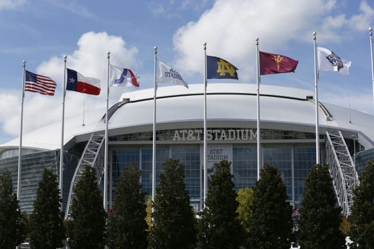 AT&T Stadium in Arlington, Texas, home of the NFL's Dallas Cowboys and major sporting events, was designed by the architecture firm HKS, reportedly the Arizona Diamondbacks' choice to design a possible replacement for Chase Field.