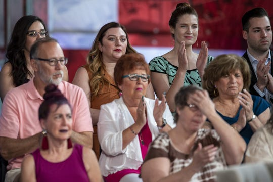Audience members clap during FOX News Channel's America's Election HQ Town Hall with 2020 Democratic Presidential candidate Julian Castro on Thursday, June 13, 2019, at the Tempe Center for the Arts in Tempe, Ariz.