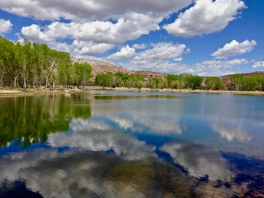 Dead Horse Ranch State Park in Cottonwood has family-friendly trails including paths circling three lagoons. Fishing is permitted in the lagoons and the Verde River, but swimming is only allowed in the river.