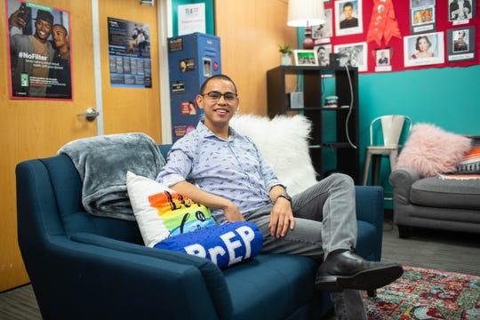 Jose Garcia, 2019 Champion of Pride, sits inside Parson's Center for HIV/AIDS inside TEA Phoenix on June 10, 2019.
