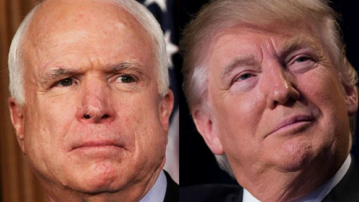 McCain supporters troll Trump on his 73rd birthday by declaring it 'John McCain Day'