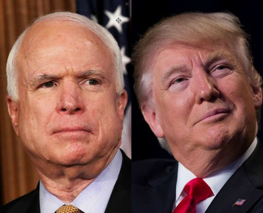 Sen. John McCain and President Donald Trump