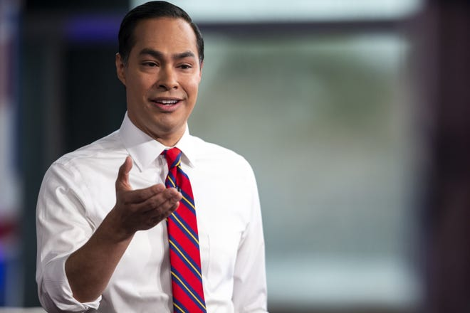 Julian Castro speaks during Fox News Channel's America's Election HQ Town Hall on Thursday, June 13, 2019, at the Tempe Center for the Arts.