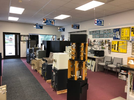 On the sales floor inside Reed's Lock, which has made a seamless transition from cutting keys 40 years ago into today's locksmith industry driven by cutting-edge technology.