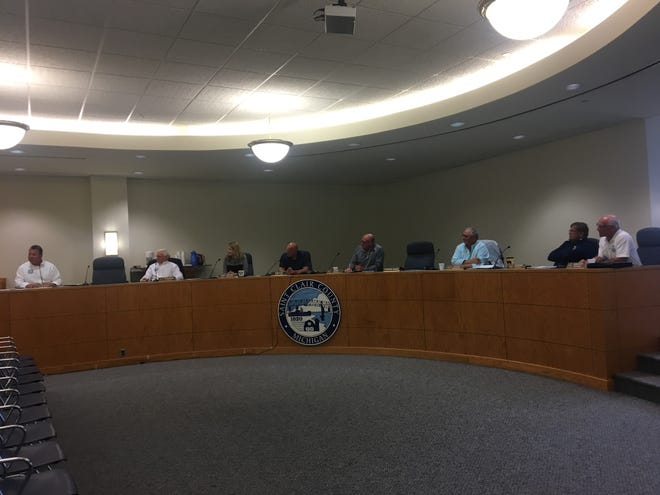 St. Clair County Board members on Thursday, June 13, 2019.
