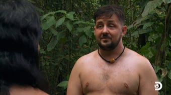 "Quince Mountain is the first openly transgender cast member on the outdoor survival show ""Naked and Afraid."" His episode airs June 16 at 9 p.m. ET/PT."