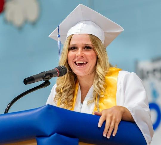 Cassidy Still gives a student address.