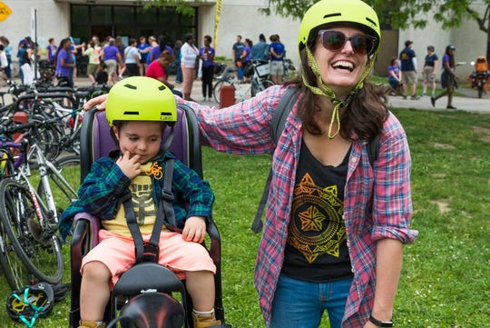 The 2018 event featured workshops on cycling safely with children.