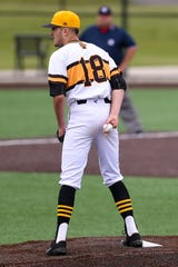 McQuaid pitcher Ryan O'Mara (18) during the Knights' 4-3 win over Suffern on Friday