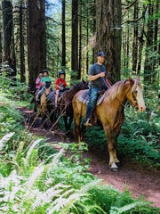 Guided horseback rides will begin at Silver Falls State Park this weekend.