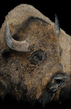 Pride Of The Prairie by George Ann Johnson is an example of some of the art that will be displayed at the America Plains Artists Special Summer Show at Fort Concho, 630 S. Oakes.