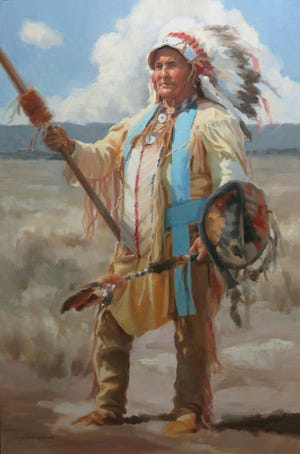 Noble Quest, an oil on linen painting by Susan Neumann, can be seen at the America Plains Artists Special Summer Show at Fort Concho, 630 S. Oakes.