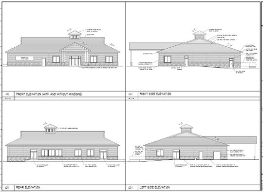 A rendering of the new Ocean Pines Association's golf clubhouse.
