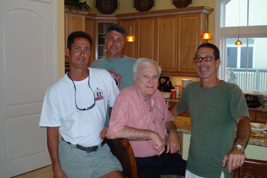 The Cush Brothers Greg, Bryan, and Joey with their father Joseph Cush, Sr.