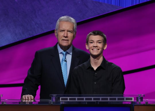 Ryan Presler, 14, from Brandon, competed in the Teen Jeopardy! competition in December. The competition will air on Monday at 3:30 p.m.