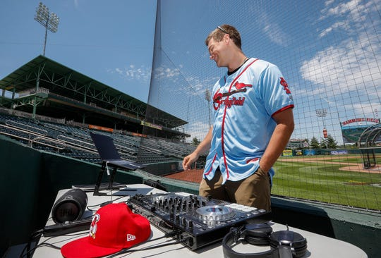 Springfield Cardinals pitcher Connor Jones has DJ'd over 100 shows along the East Coast. He's trying to get some gigs while he's in Springfield.