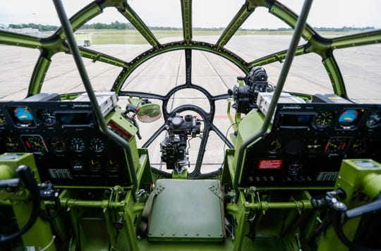 Inside Doc, a World War II era B-29 Superfortress, that made a stop at the Springfield-Branson National Airport on Friday, June 14, 2019.