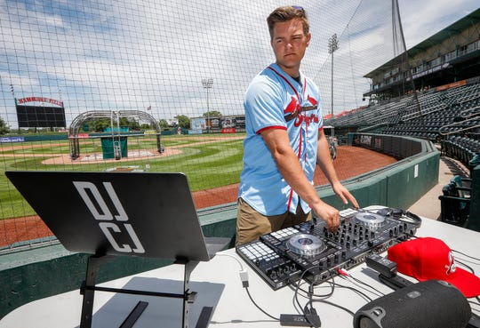 Connor Jones, a pitcher with the Springfield Cardinals, is also a DJ who goes by DJ CJ.