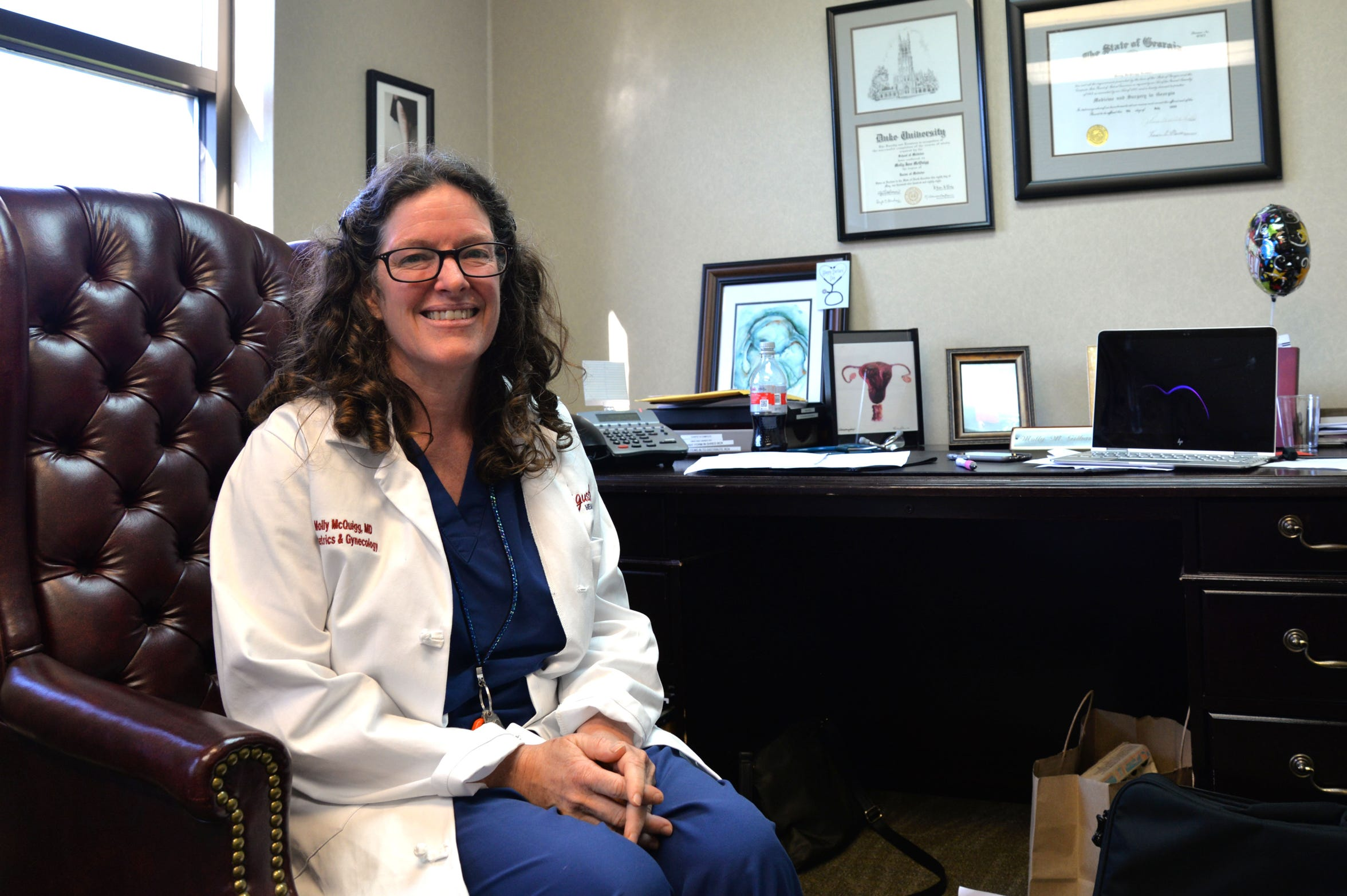 Dr. Molly McQuigg at her office at Augusta Health Care for Women in Fishersville on June 13, 2019.