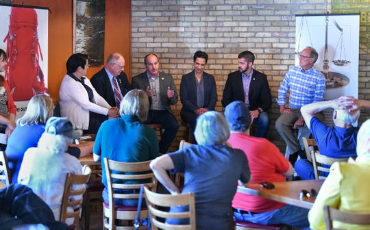 Local politicians share their views on state government topics during the Policy Drafts event sponsored by SC Times Thursday, June 13, at Beaver Island Brewing Co. in St. Cloud.