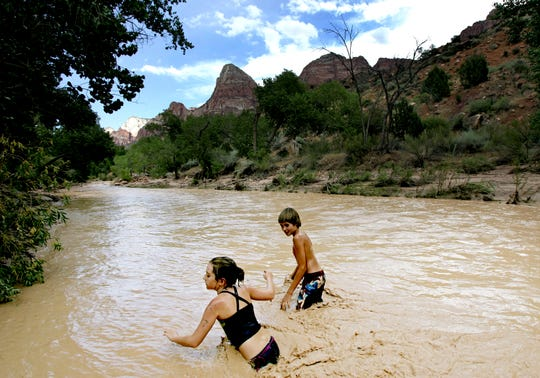Zion National Park officials warn visitors of dangerous water levels in Virgin River