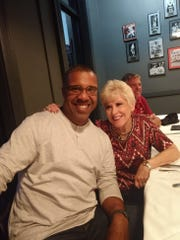 Carol Martin with former Seminole and ESPN baseball analyst Eduardo Perez.