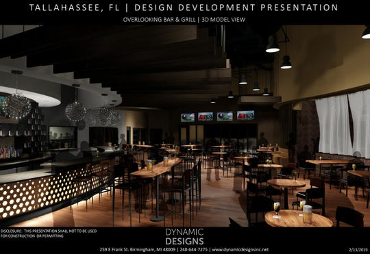 Early renderings of the new District 850, an entertainment and dining venue to break ground within Canopy at Welaunee.