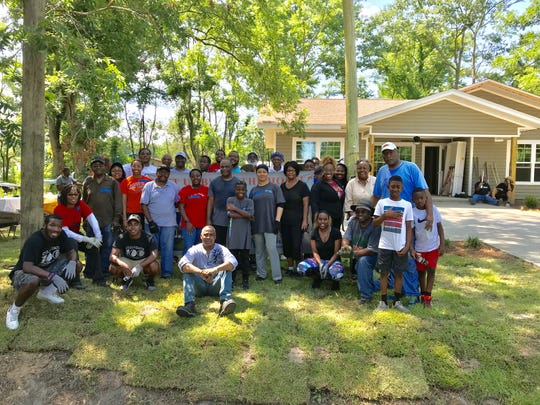 Last day of build for the Habitat House for Gadsden County, which was dedicated on Saturday.