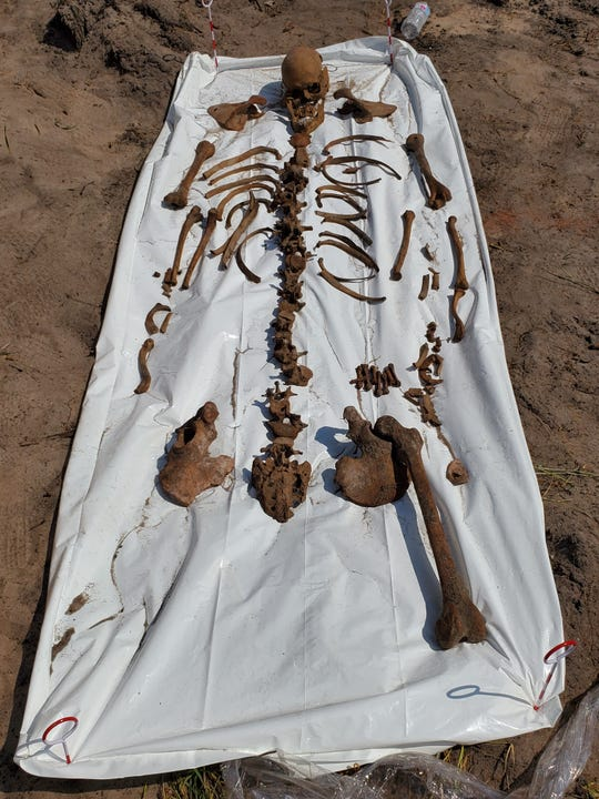 Skeletal remains of a Native American man were discovered June 5, 2019, by construction workers at Blue at 8050 Ocean in Indian River Shores.