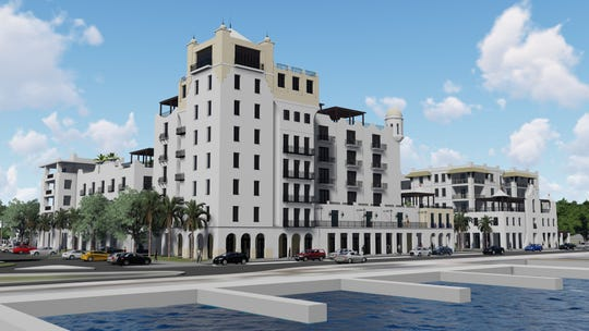 Audubon Development of West Palm submitted this $85 million proposal to redevelop the H.D. King site in downtown for a 120-room Marriott Hotel, 60 condos, 40,000-square-foot retail space, space for two restaurants, 300 surface parking spaces. The project would be named King's Landing.