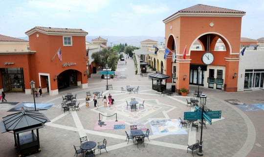 This is a bird's-eye view from the second floor looking down at the Simi Valley Town Center. The long-struggling shopping center has a new owner, Bayside SVTC, a Delaware-limited liability company, which plans to redevelop the open-air mall.
