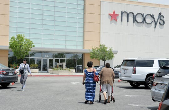 Customers arrive at the Macy's at the Simi Valley Town Center.