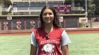 Oaks Christian senior shortstop Maya Brady, the Marmonte League MVP and a UCLA commit, led the area in home runs, slugging and runs scored.