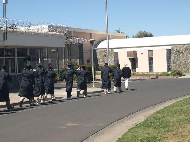 Students at Johanna Boss High School in Stockton graduate behind razor wire at the O.H. Close Youth Correctional Facility in Stockton.