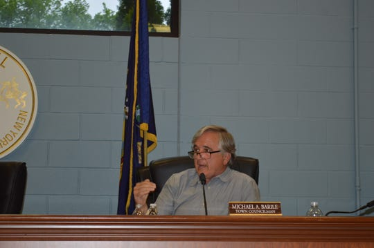 Carmel Town Board member Michael Barile did not recuse himself from the vote on the Tompkins Mahopac Bank property.