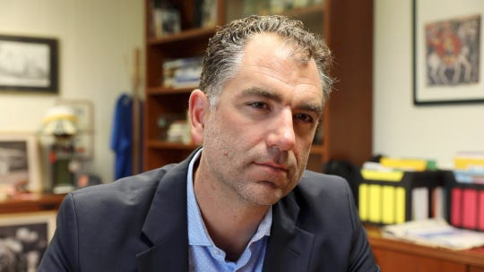 Superintendent Joseph Hochreiter, photographed in his office at Hendrick Hudson School District office in Montrose on Tuesday, June 11, 2019.
