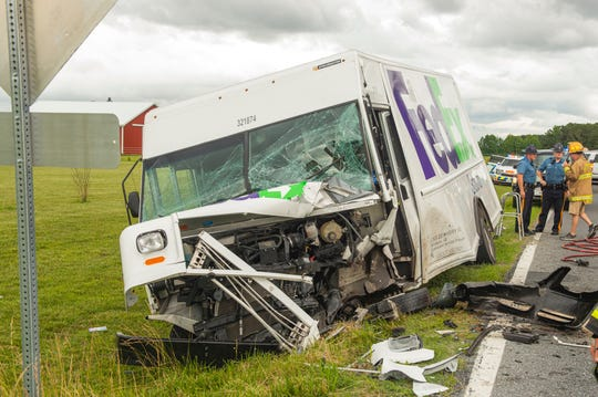 A FedEx truck and a minivan crashed in the area of Old Furnace Road and Remeter Road in Georgetown Thursday afternoon.