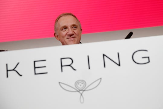 Francois-Henri Pinault, CEO of luxury group Kering arrives for the presentation of the company's 2018 full year results in Paris.