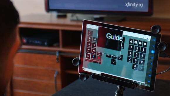 The web-based Comcast X1 remote control can be controller by a user's eyes.