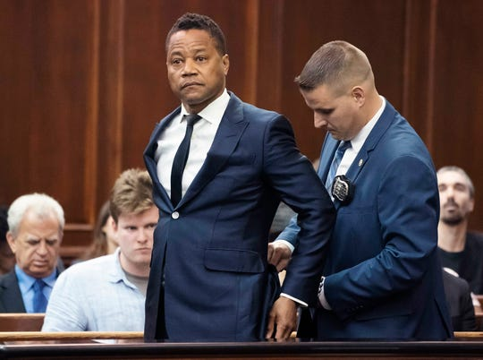 Cuba Gooding Jr. appears in criminal court on June 13, 2019, in New York to plead not guilty after a woman accused him of groping her at a city bar.