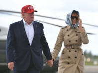 President Trump likens first lady Melania Trump to 'Jackie O' but Twitter objects