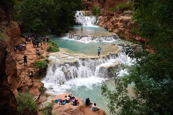 Havasu falls are off limits to river rafters during COVID lockdown, Havasupai Tribe says